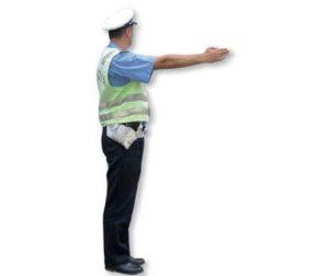 predručena ruka policajca