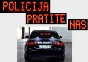vozilo policije - presretač pratite nas