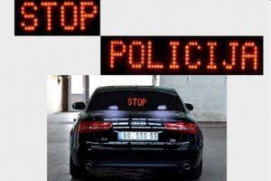 vozilo policije - presretač stop