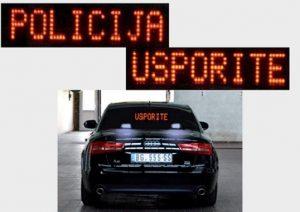 vozilo policije - presretač usporite